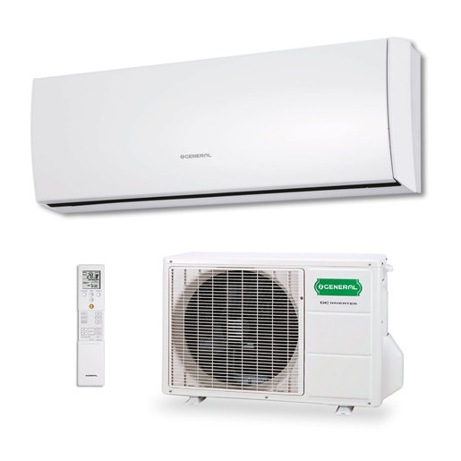 Aire acondicionado 1x1 General ASG9UI-LU split pared Inverter